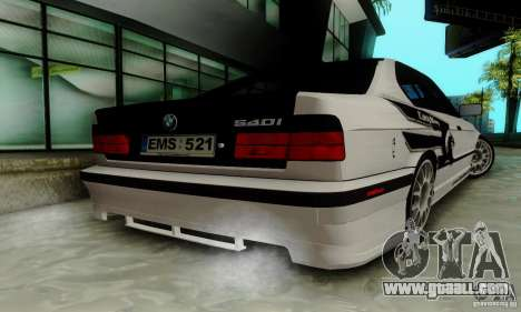 BMW E34 540i Tunable for GTA San Andreas side view