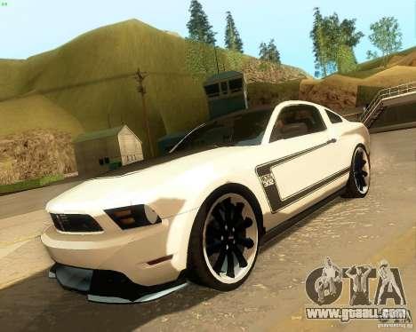 Ford Mustang Boss 302 2011 for GTA San Andreas