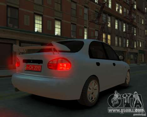 Daewoo Lanos for GTA 4 left view