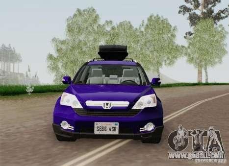 Honda CRV 2011 for GTA San Andreas upper view