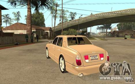 Bentley Arnage for GTA San Andreas back left view