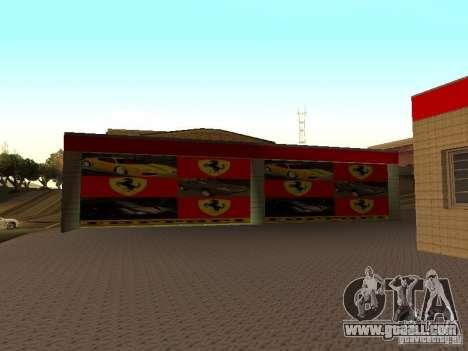 The Ferrari garage in Dorothy for GTA San Andreas forth screenshot