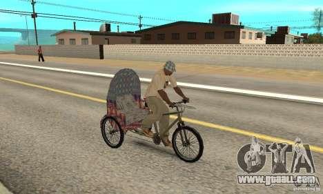 Manual Rickshaw v2 Skin5 for GTA San Andreas right view