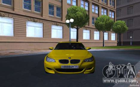 BMW M5 Gold Edition for GTA San Andreas left view