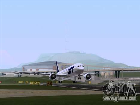 Boeing 787-9 LOT Polish Airlines for GTA San Andreas left view
