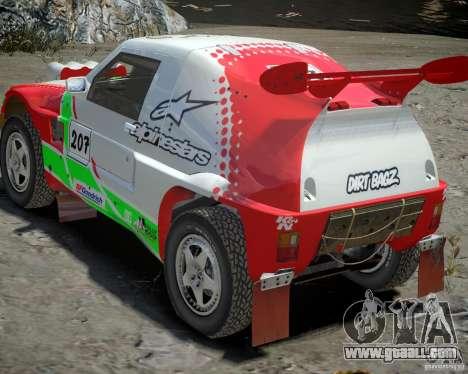 Mitsubishi Pajero Proto Dakar EK86 Vinyl 2 for GTA 4 upper view
