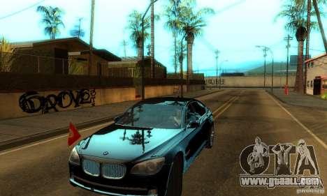 BMW 750Li for GTA San Andreas back view