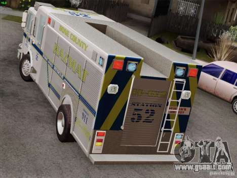 Pierce Fire Rescues. Bone County Hazmat for GTA San Andreas interior