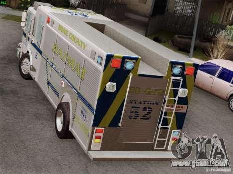 Pierce Fire Rescues. Bone County Hazmat for GTA San Andreas interior