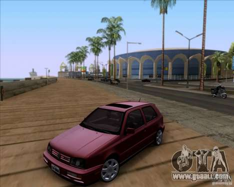 Volkswagen Golf MK3 VR6 for GTA San Andreas inner view