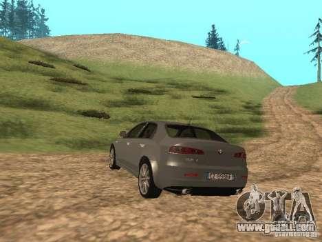 Alfa Romeo 159Ti for GTA San Andreas back left view