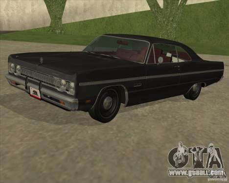 Plymouth Fury III coupe 1969 for GTA San Andreas back left view