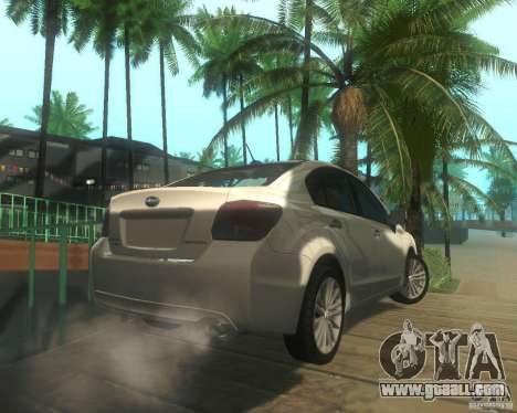 Subaru Impreza Sedan 2012 for GTA San Andreas right view