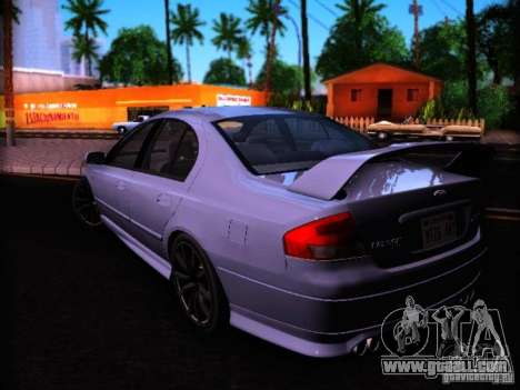 Ford Falcon FPV F6 TYPHOON XR8 2007 for GTA San Andreas left view
