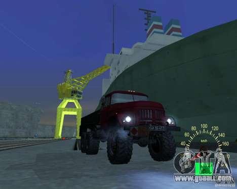 ZIL 131 Tanker for GTA San Andreas inner view