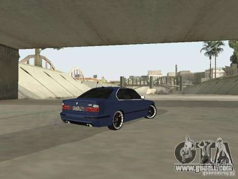 BMW M5 E34 V2.0 for GTA San Andreas back left view