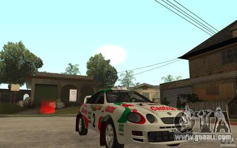 Toyota Celica GT4 DiRT for GTA San Andreas back view