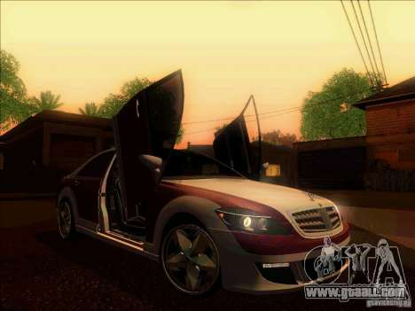 Mercedes-Benz S600 AMG WCC Edition for GTA San Andreas inner view