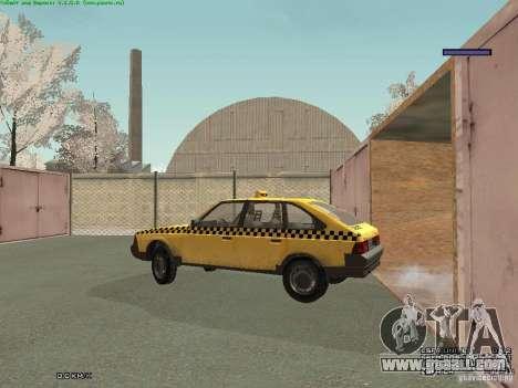 AZLK Moskvich 2141 Taxi v2 for GTA San Andreas interior