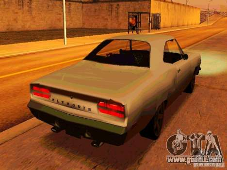 Plymouth Road Runner 426 HEMI 1970 for GTA San Andreas right view