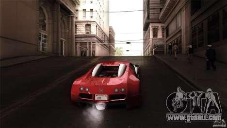 Bugatti Veyron 16.4 for GTA San Andreas inner view