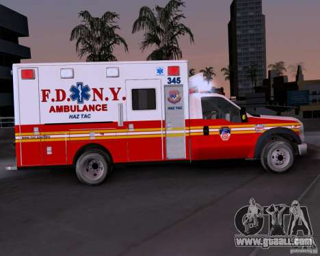 Ford F-350 F.D.N.Y for GTA San Andreas left view