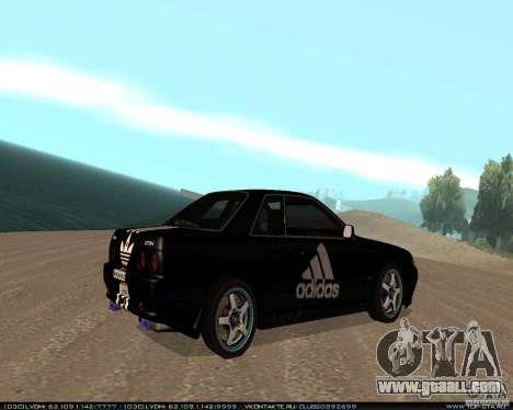 Nissan Skyline R32 GT-R + 3 vinyl for GTA San Andreas right view