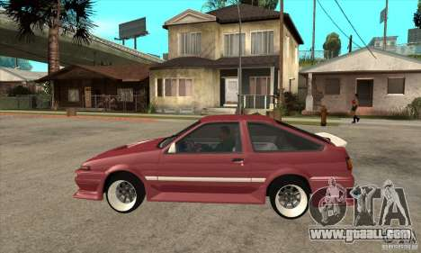 Toyota Corolla AE86 tuned for GTA San Andreas left view