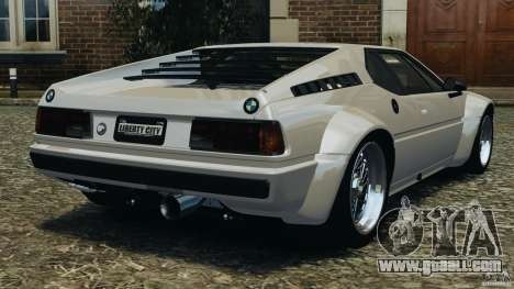 BMW M1 Procar for GTA 4 back left view