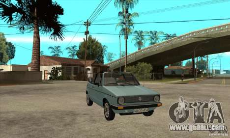 Volkswagen Golf Mk1 Cabrio for GTA San Andreas back view