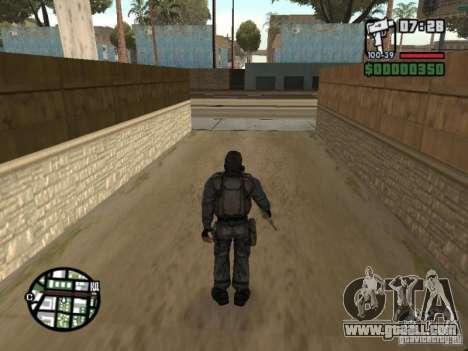 Stalker mercenary in mask for GTA San Andreas third screenshot