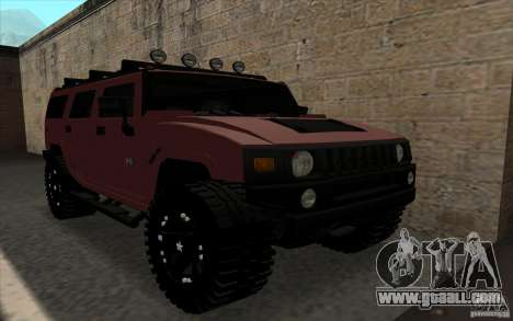 Hummer H2 for GTA San Andreas back left view