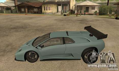 Lamborghini Diablo GT-R for GTA San Andreas left view