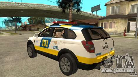 Chevrolet Captiva Police for GTA San Andreas back left view