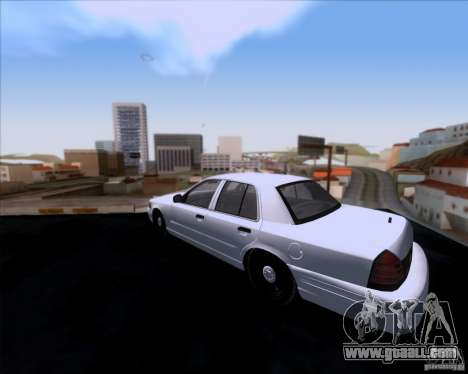 Ford Crown Victoria 2009 Detective for GTA San Andreas back left view