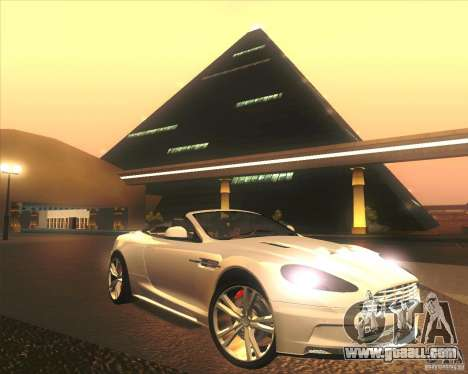 Aston Martin DBS Volante 2009 for GTA San Andreas engine