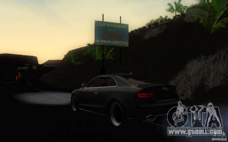 Audi S5 Black Edition for GTA San Andreas back left view