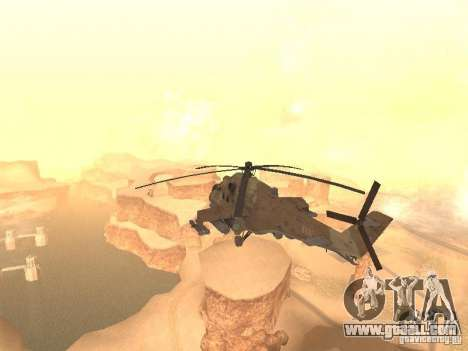 Mi-24 p Desert Camo for GTA San Andreas back left view