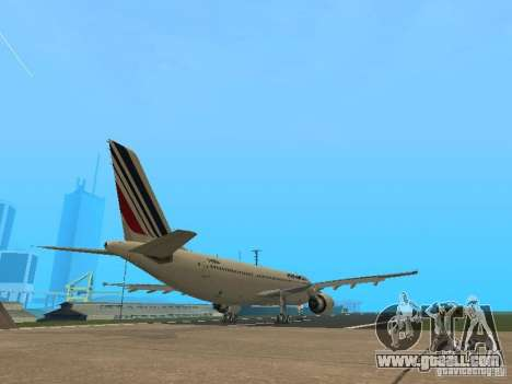 Airbus A300-600 Air France for GTA San Andreas back view