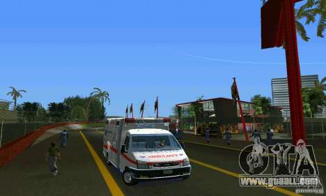 RTW Ambulance for GTA Vice City back view