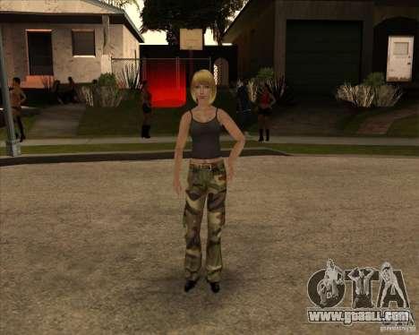 New gangrl3 for GTA San Andreas