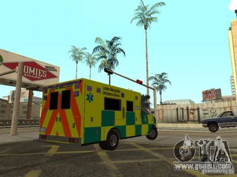 London Ambulance for GTA San Andreas back left view