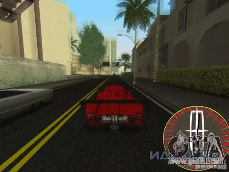 New speedometer Lincoln for GTA San Andreas third screenshot