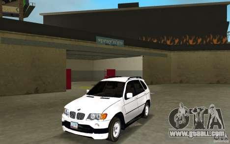 BMW X5 for GTA Vice City