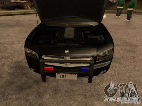 Dodge Charger RT Police for GTA San Andreas inner view