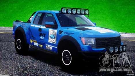 Ford F150 Racing Raptor XT 2011 for GTA 4 interior