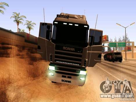 Scania 124G R400 for GTA San Andreas back view