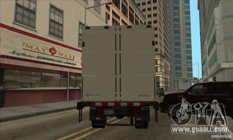 Truck with logo YouTube for GTA San Andreas back left view