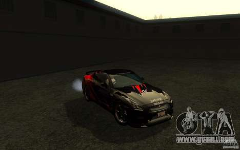 Nissan GTR R35 Spec-V 2010 for GTA San Andreas side view