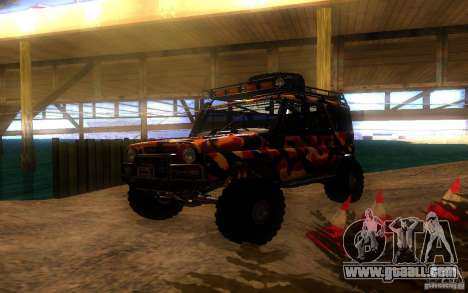 UAZ 4 x 4 for GTA San Andreas inner view